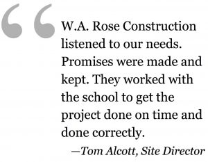 WA Rose Construction finished the Moreau project on time and on budget