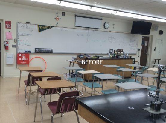 WARose Construction: updating the classrooms at Moreau Catholic School