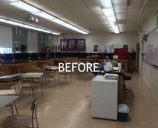 warose construction: updating classrooms at Moreau Catholic School