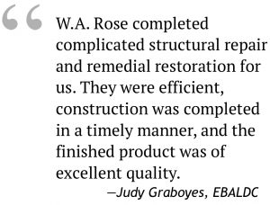 WARose Construction testimonial from EBALDC corporation