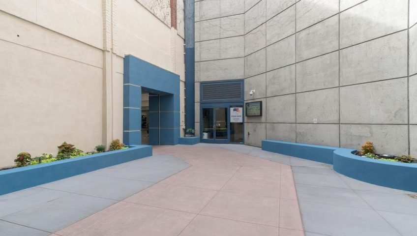 WARose Construction built a portal from the parking garage to the Lesher Center.