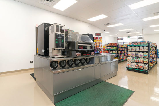 WARose Construction retrofitted an old warehouse to create a spacious new convenience store in Oakland for Golden Gate Petroleum