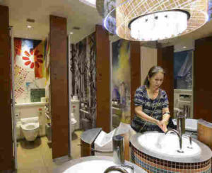 warose construction; reengineering public restrooms for COVID